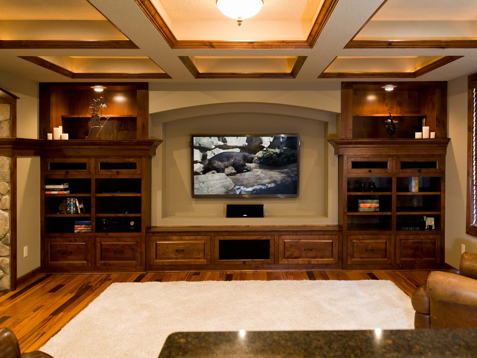 Basement-Home-Theater-Wood-Trim